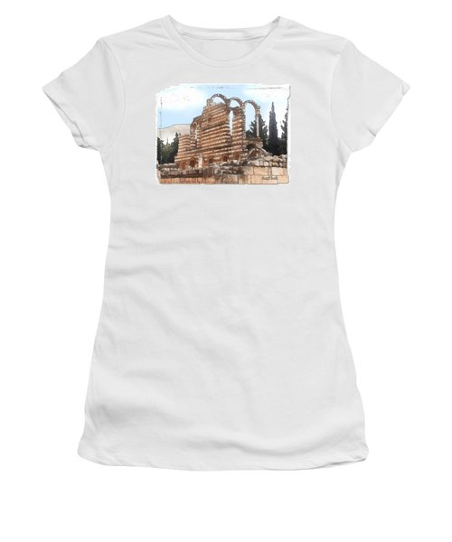 Do-00302 Ruins In Anjar Women's T-Shirt (Athletic Fit)