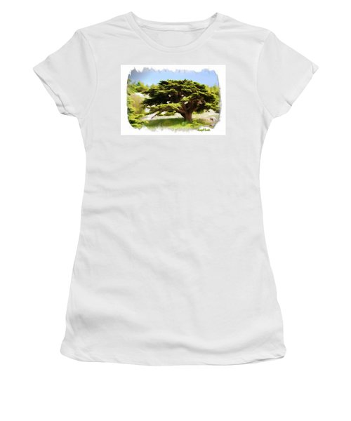 Do-00319 Cedar Tree Women's T-Shirt (Athletic Fit)