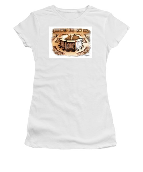 Women's T-Shirt (Junior Cut) featuring the photograph Do-00323 Old Bath Fountain by Digital Oil