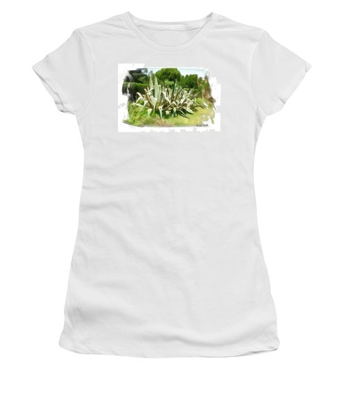 Women's T-Shirt (Athletic Fit) featuring the photograph Do-00335 Plant Bois Des Pins by Digital Oil