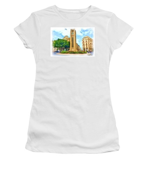 Do-00358 The Clock Tower Women's T-Shirt (Athletic Fit)
