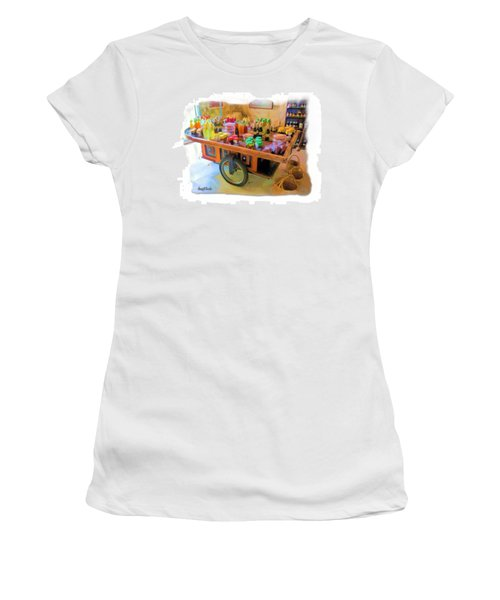 Women's T-Shirt (Athletic Fit) featuring the photograph Do-00391 Wheel Stand by Digital Oil