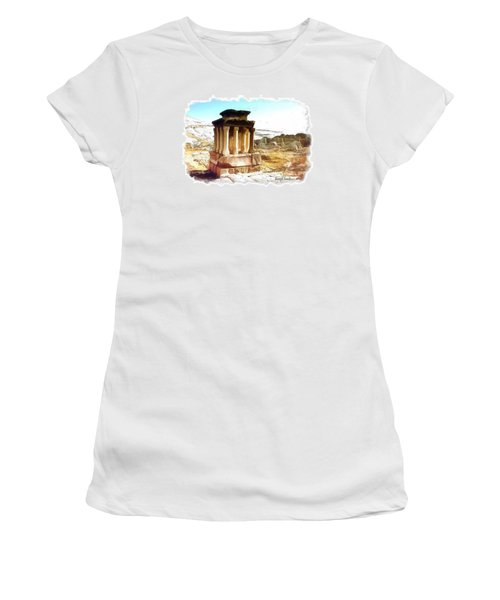 Do-00432 The Temple Of Faqra Women's T-Shirt (Athletic Fit)
