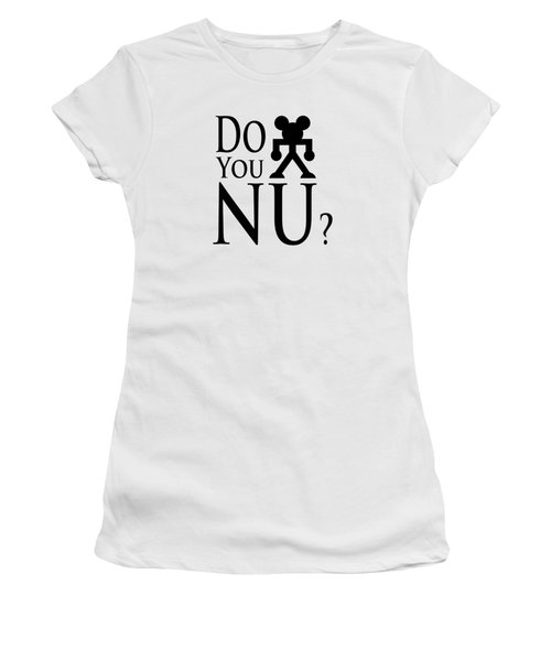 Do You Nu Blacktxt Women's T-Shirt (Athletic Fit)