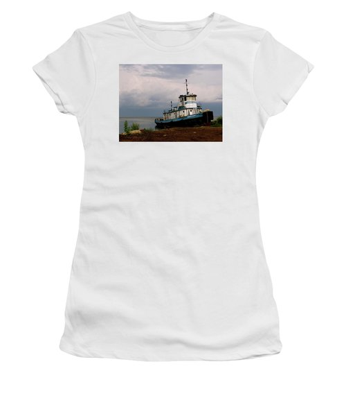 Docked On The Shore Women's T-Shirt (Athletic Fit)