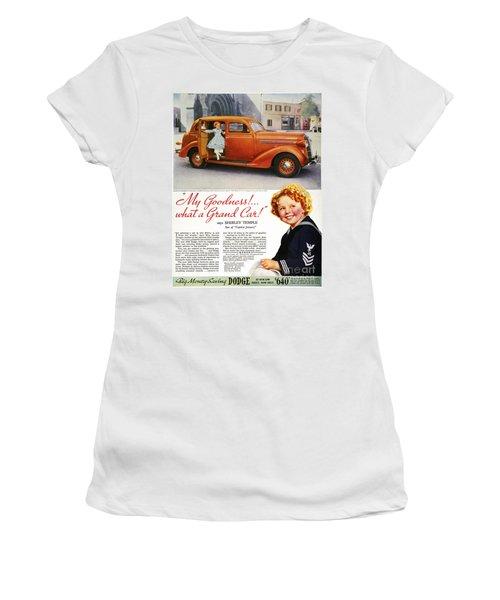 Dodge Automobile Ad, 1936 Women's T-Shirt (Junior Cut) by Granger