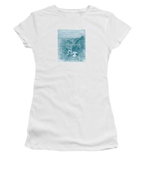 Dog Fish Women's T-Shirt (Junior Cut) by David Davies