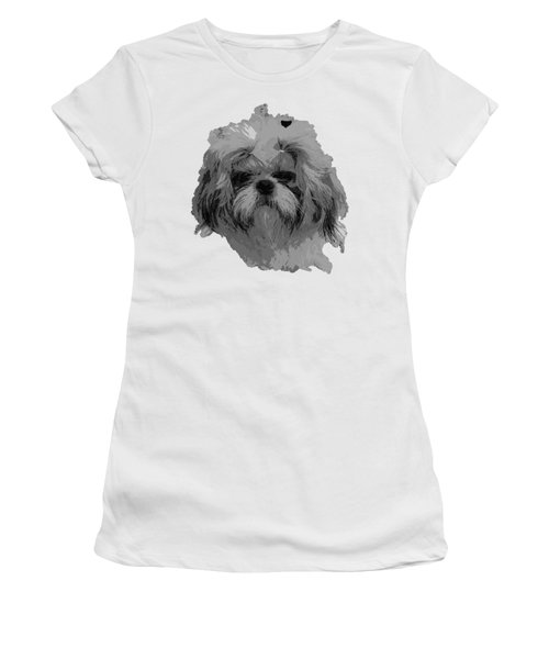 Dog Head  Women's T-Shirt (Athletic Fit)