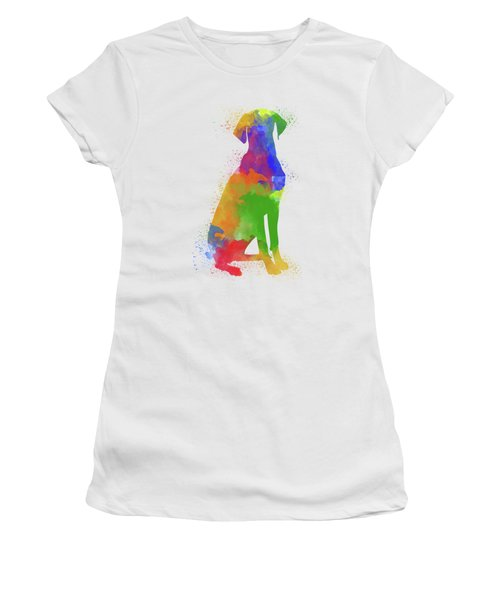 Dog Watercolor 1 Women's T-Shirt (Athletic Fit)