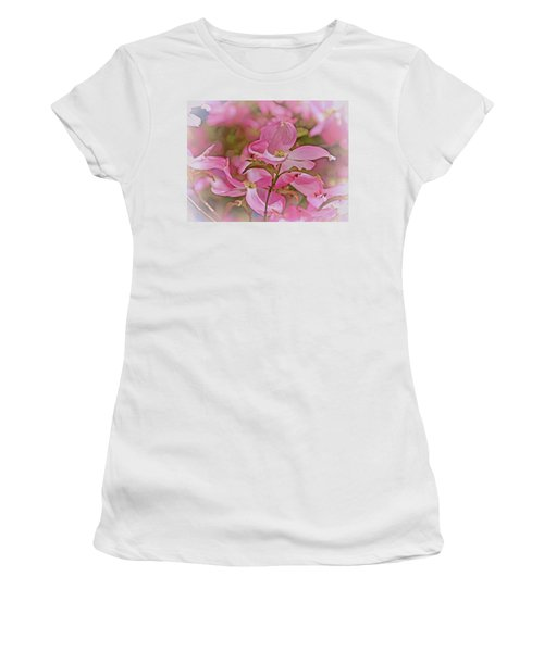 Women's T-Shirt (Athletic Fit) featuring the photograph Dogwood Bliss 11 by Lynda Lehmann