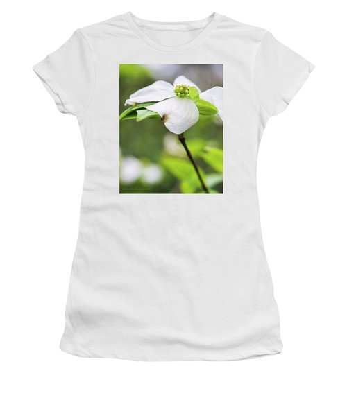 Dogwood Blossom Standing Women's T-Shirt (Athletic Fit)