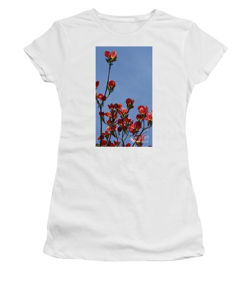 Women's T-Shirt (Junior Cut) featuring the photograph Dogwood by Victor K