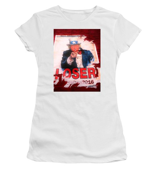 Donald Trump Loser Or Winner  Women's T-Shirt (Athletic Fit)
