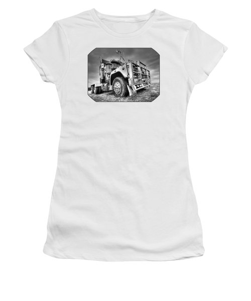 Done Hauling - Black And White Women's T-Shirt (Athletic Fit)