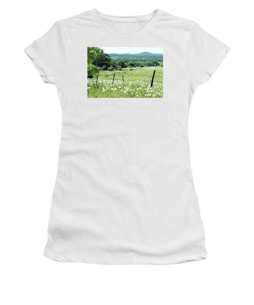 Women's T-Shirt (Junior Cut) featuring the photograph Done In White by Joe Jake Pratt