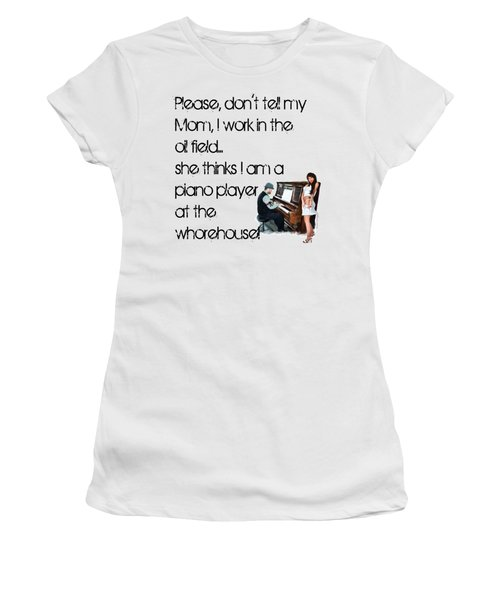 Don't Tell Mom Women's T-Shirt (Junior Cut) by Susan Kinney