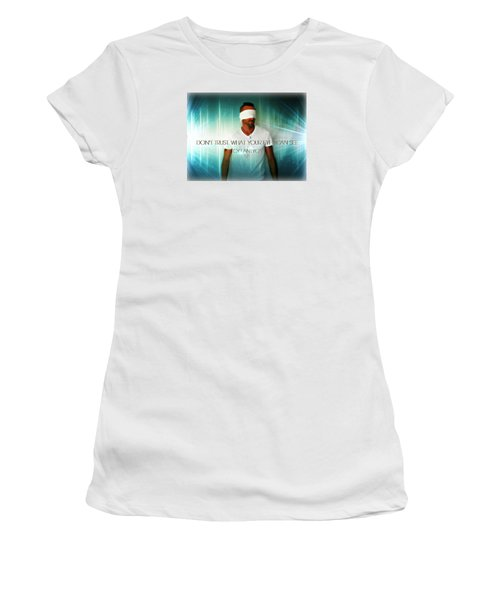 Women's T-Shirt (Junior Cut) featuring the photograph Don't Trust by Cyryn Fyrcyd