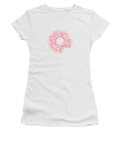 Donut Women's T-Shirt (Junior Cut) by Kathleen Sartoris