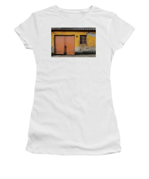 Women's T-Shirt (Junior Cut) featuring the photograph Door No 162 by Marco Oliveira