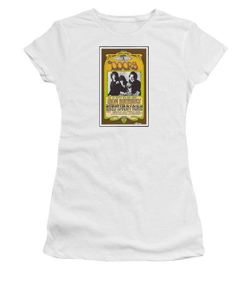 Doors/iron Butterfly Concert Poster Women's T-Shirt (Athletic Fit)