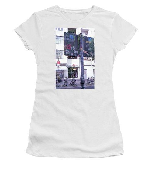 Double Exposure Street Sign Women's T-Shirt