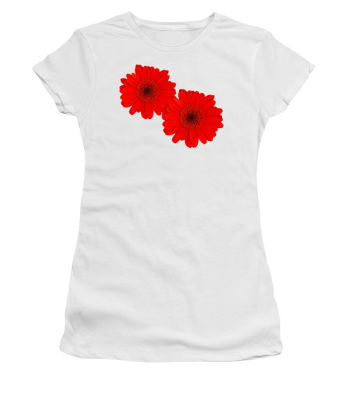Double Gerbera Women's T-Shirt (Junior Cut) by Scott Carruthers