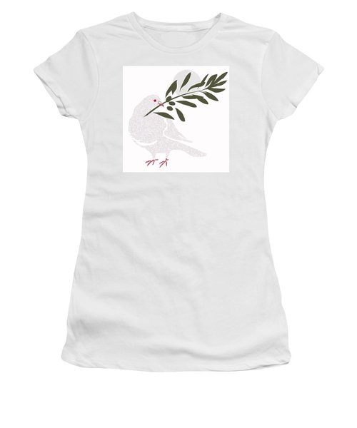 Dove Of Peace Women's T-Shirt (Athletic Fit)