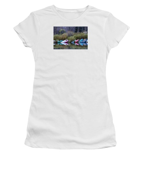 Downtime At Beaver Lake Women's T-Shirt (Junior Cut) by Alana Thrower