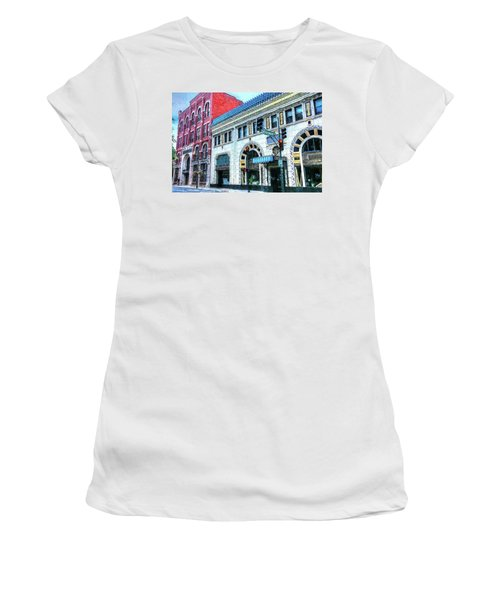 Downtown Asheville City Street Scene Painted  Women's T-Shirt
