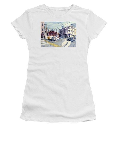 Downtown San Francisco Women's T-Shirt (Junior Cut) by Donald Maier