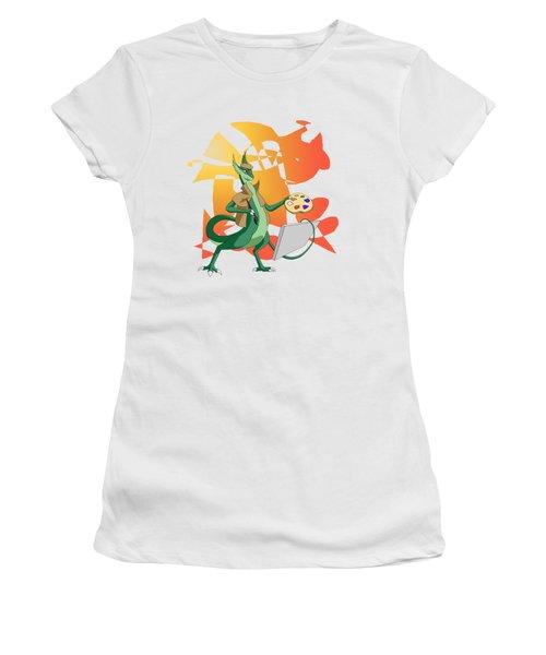 Dragon Painter Women's T-Shirt (Athletic Fit)