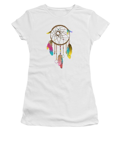 Dreamcatcher Rainbow Women's T-Shirt (Athletic Fit)