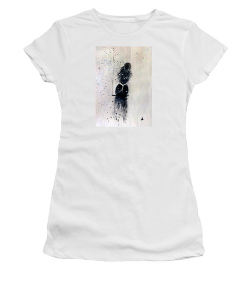 Women's T-Shirt (Junior Cut) featuring the painting Dreams Come True.. 6 by Cristina Mihailescu