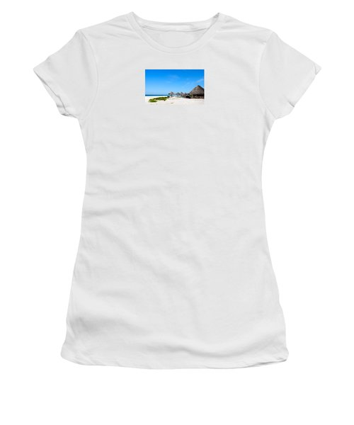 Drinks On Me Women's T-Shirt (Junior Cut) by Margie Amberge