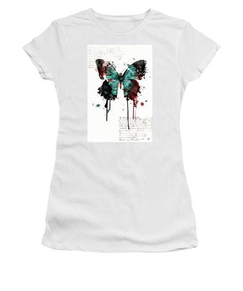 Dripping Butterfly Women's T-Shirt (Athletic Fit)
