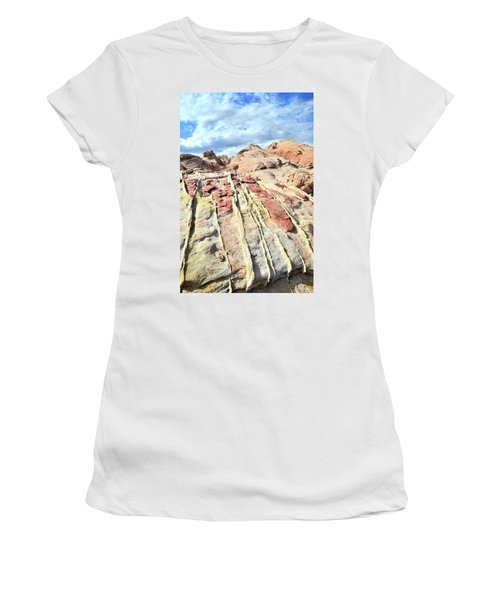 Dripping Color In Valley Of Fire Women's T-Shirt (Junior Cut) by Ray Mathis