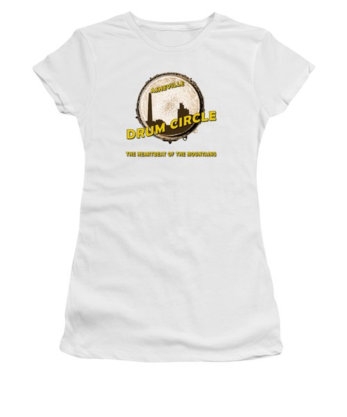 Drum Circle Logo Women's T-Shirt (Athletic Fit)