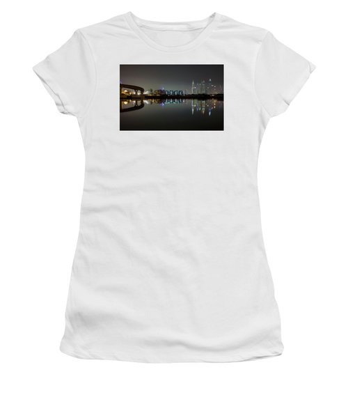 Dubai City Skyline Night Time Reflection Women's T-Shirt