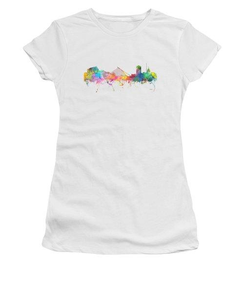 Dublin  Ireland. Skyline Women's T-Shirt (Junior Cut) by Marlene Watson