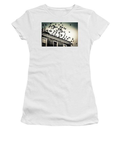 Flight Over Oscar Wilde's Hood, Dublin Women's T-Shirt