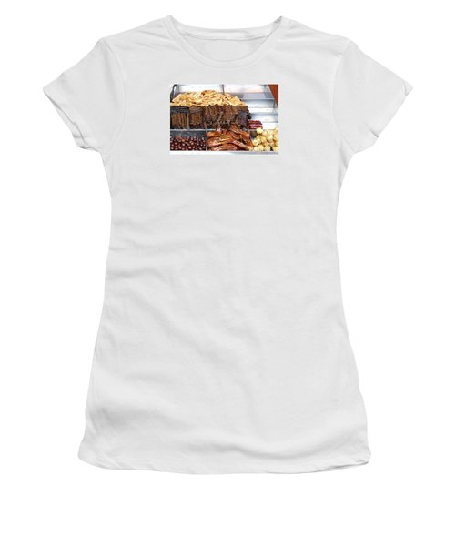 Duck Heads In Soy Sauce And Rice And Blood Cakes Women's T-Shirt (Junior Cut) by Yali Shi