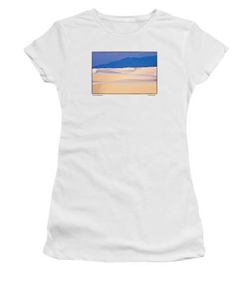 Women's T-Shirt (Junior Cut) featuring the photograph Dunes With Mountains by R Thomas Berner