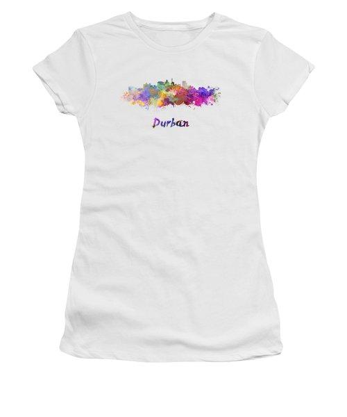 Durban Skyline In Watercolor Women's T-Shirt