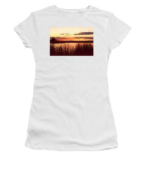 dusk on Lake Superior Women's T-Shirt