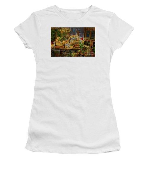 Dutch Shop Women's T-Shirt (Junior Cut) by Sandy Moulder