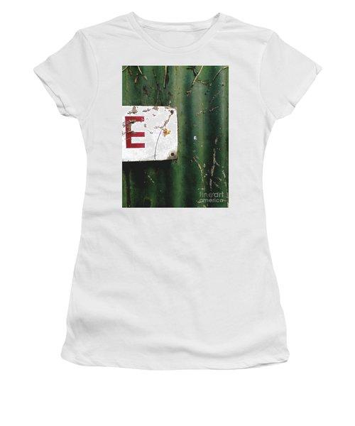E Women's T-Shirt (Junior Cut) by Rebecca Harman