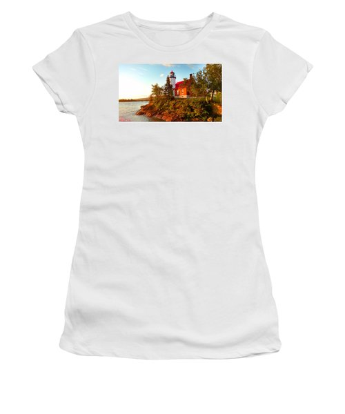 Eagle Harbor Lighthouse Women's T-Shirt (Athletic Fit)