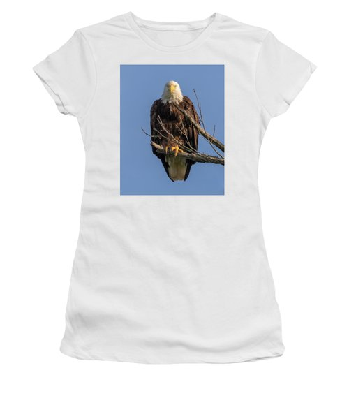 Women's T-Shirt featuring the photograph Eagle Stare by Allin Sorenson
