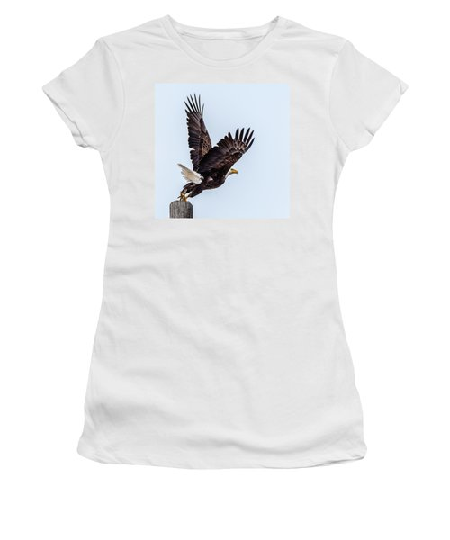 Eagle Taking Flight Women's T-Shirt (Athletic Fit)