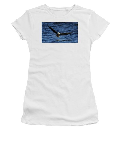 Women's T-Shirt (Junior Cut) featuring the photograph Eagle With Talons Up by Coby Cooper